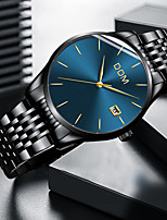 cheap -DOM Men's Sport Watch Quartz Modern Style Stylish Casual Water Resistant / Waterproof Stainless Steel Leather Analog - Black+Gloden Black Blue / Calendar / date / day