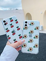 cheap -Case For Apple iPhone 11 / iPhone 11 Pro / iPhone 11 Pro Max Shockproof / Transparent / Pattern Back Cover Cartoon / Flower TPU