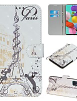 cheap -Case For Samsung Galaxy S20 Ultra Note 10 Plus S10E A51 A71 A20E Wallet Card Holder with Stand Full Body Cases Eiffel Tower PU Leather Galaxy A10 A20 A30 A30S A40 A50 A50S A70 A80 A90 A2 Core