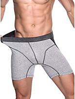 cheap -Men's Basic Boxers Underwear - Normal Mid Waist Light gray Dark Gray Gray L XL XXL