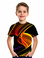 cheap -Kids Boys' Sports & Outdoors Basic Holiday Geometric Short Sleeve Tee Black
