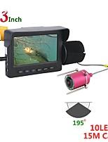 cheap -15M 1200TVL Fish Finder Underwater Fishing Camera 4.3 Inch Monitor 10PCS LED Night Vision 195 Degrees Camera For Fishing