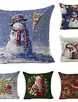 cheap -6 pcs Cotton Polyester Pillow Cover, Botanical Holiday Classic Boho Square Polyester Traditional Classic