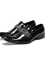 cheap -Men's Dress Shoes Summer Daily Party & Evening Loafers & Slip-Ons Cowhide Handmade Black