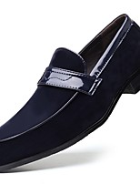 cheap -Men's Summer Daily Loafers & Slip-Ons PU Black / Blue / Brown