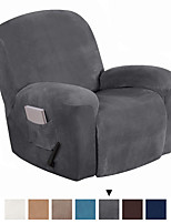 cheap -Recliner Chair Cover Velvet Plush 1-Piece Recliner Covers for Large Recliner, Soft Thick Luxury Velvet Furniture Protector with Elastic Bottom, Anti-Slip Foams Attached