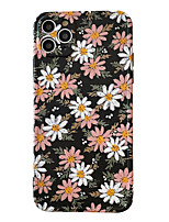 cheap -Case For Apple scene graph iPhone 11 11 Pro 11 Pro Max Photo frame private model series pink white small chrysanthemum pattern TPU material IMD process fine matte mobile phone case