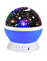 cheap -Starry Sky Rotating LED Night Light Projector Battery USB Operated Children's Bedroom Night Lamp Moon Projection Light Kids Gift