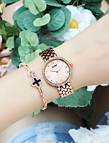 cheap -DOM Women's Quartz Watches Quartz Modern Style Stylish Casual Water Resistant / Waterproof Stainless Steel Analog - White+Gold Gold
