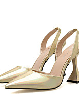 cheap -Women's Heels Summer Stiletto Heel Pointed Toe Daily Snake Cowhide Gold / Silver
