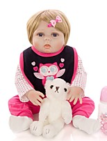 cheap -KEIUMI 22 inch Reborn Doll Baby & Toddler Toy Reborn Toddler Doll Baby Girl Gift Cute Washable Lovely Parent-Child Interaction Full Body Silicone 23D23-C89-H28-T19 with Clothes and Accessories for