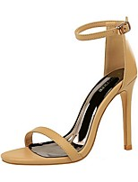 cheap -Women's Sandals Summer Stiletto Heel Open Toe Daily PU White / Black / Yellow