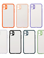 cheap -Case For Apple iPhone 7 iPhone 7P iPhone 8 iPhone 8P iPhone X iPhone iPhone XS iPhone XR iPhone XS max iPhone 11 iPhone 11 Pro iPhone 11 Pro Max Shockproof  Frosted Back Cover Solid Colored TPU