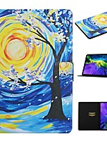 cheap -Case For Apple iPad 10.2 iPad Pro 11 2020 iPad Air 10.5 2019 Card Holder with Stand Pattern Full Body Cases Tree PU Leather iPad Mini 12345 2017 2018