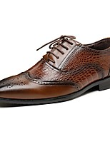 cheap -Men's Summer / Fall Daily Oxfords PU Black / Brown
