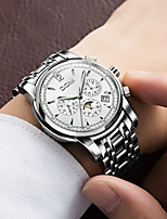 cheap -DOM Men's Mechanical Watch Automatic self-winding Modern Style Sporty Casual Water Resistant / Waterproof Stainless Steel Analog - Black / Silver White+Silver Black / Calendar / date / day