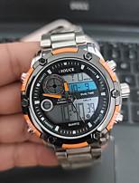cheap -DIOUCE Men's Digital Watch Digital Sporty Stylish Casual Water Resistant / Waterproof Stainless Steel Silver Analog - Digital - Black / Silver Red+Silver Silver+Orange