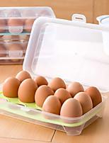 cheap -Refrigerator Egg Box Food Storage Tray Grid Kitchen Transparent Plastic Put