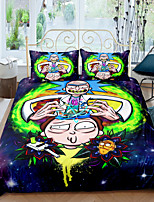 cheap -Home Textiles 3D Bedding Set  Duvet Cover with Pillowcase 2/3pcs Bedroom Duvet Cover Sets  Bedding Rick and Morty