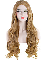 cheap -Synthetic Wig Curly Body Wave Middle Part Wig Long Light Brown Silver grey Blonde Grey Dark Red Synthetic Hair 27.6-31 inch Women's Party New Arrival Fashion Dark Gray Blonde