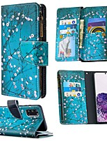 cheap -Case For Samsung Galaxy S20 Ultra S10E S9 Plus Wallet / Card Holder / with Stand Full Body Cases Flower PU Leather For Galaxy A10E A20E A10 A20 A30 A40 A50 A70