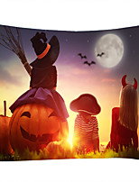 cheap -Sunset Pumpkin Girl Witch Classic Theme Wall Decor 100% Polyester Contemporary Wall Art Wall Tapestries Decoration