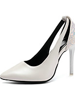 cheap -Women's Heels Spring / Summer Stiletto Heel Pointed Toe Daily Solid Colored PU White / Black / Gray