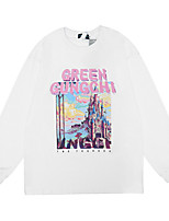 cheap -Women's Sweatshirt Graphic Casual Hoodies Sweatshirts  Loose White Black Purple