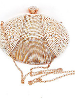 cheap -Women's Bags Polyester Clutch Pearls / Crystals for Event / Party Gold / Wedding Bags