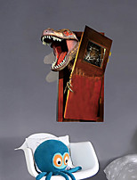 cheap -3D Broken Wall Dinosaur Children's Room Bedroom Background Wall Stickers Foreign Trade Wallpaper Stickers