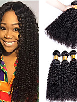 cheap -3 Bundles Hair Weaves Brazilian Hair Curly Human Hair Extensions Remy Human Hair 100% Remy Hair Weave Bundles 300 g Natural Color Hair Weaves / Hair Bulk Human Hair Extensions 8-28 inch Natural Color