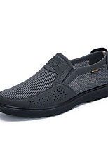cheap -Men's Summer / Fall Casual Daily Office & Career Loafers & Slip-Ons Mesh Breathable Non-slipping Black / Beige / Gray