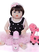 cheap -KEIUMI 19 inch Reborn Doll Baby & Toddler Toy Reborn Toddler Doll Baby Girl Gift Cute Washable Lovely Parent-Child Interaction Full Body Silicone 19D09-C118-H31-T05 with Clothes and Accessories for