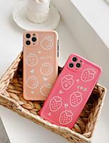 cheap -Case For APPLE iPhone 7 8 7plus 8plus XR XS XSMAX X SE 11 11Pro 11ProMax  Pattern Back Cover TPU strawberry orange cute fruit word phrase