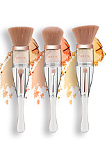 cheap -Professional Makeup Brushes 3 Pieces Soft Adorable Artificial Fibre Brush Aluminium Alloy 7005 for Foundation Brush Eyeshadow Brush Makeup Brush Set