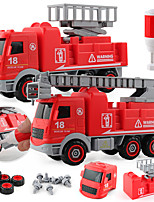 cheap -Model Building Kit Construction Truck Toys Mini Creative Fire Truck DIY Parent-Child Interaction Plastic Mini Car Vehicles Toys for Party Favor or Kids Birthday Gift 12 pcs / Kid's