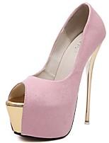 cheap -Women's Sandals Summer Stiletto Heel Open Toe Daily PU White / Black / Pink