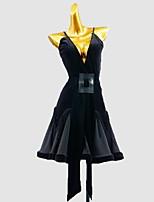 cheap -Latin Dance Dress Sash / Ribbon Girls' Training Daily Wear Sleeveless Cotton