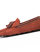 cheap -Men's Fall Casual Daily Loafers & Slip-Ons Suede / PU Non-slipping Black / Green / Brown