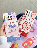 cheap -Case For Huawei  Nova 4 5 5Pro 6 Huawei P20 P20 Pro P30 P30Pro P40 P40Pro Mate 20 20Pro 30 30Pro Shockproof Frosted  Pattern Back Cover Food Cartoon TPU