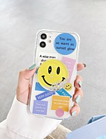 cheap -Apple Case For iPhone7 8 7plus 8plus  XR XS XSMAX  X SE  11  11Pro 11ProMax Pattern Back Cover Word Phrase Transparent TPU