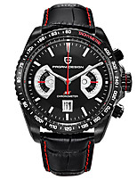 cheap -PAGANI Men's Sport Watch Quartz Modern Style Stylish Casual Water Resistant / Waterproof Stainless Steel Leather Analog - Black / Silver White+Silver Black / Calendar / date / day