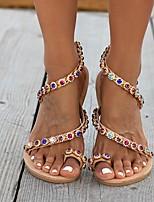 cheap -Women's Sandals Roman Shoes / Gladiator Sandals Summer Flat Heel Open Toe Daily PU Rainbow