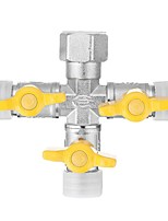 cheap -1/2 Garden Hose Tap Manifold Quick Connector Three Outlet 3 Way Water Splitter Valve Adapter for Washing Machine Faucet - A