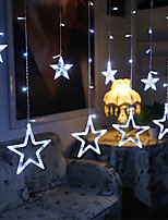 cheap -12 Stars Curtain String Lights  2.5M  216 LEDs  3 Colors Available Waterproof Creative Christmas Wedding Decoration Can Be Connected in Series  Garden Yard Decoration Lamp Night Light 110-120 V 1 set