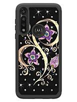cheap -Case For Motorola MOTO E4 E5 E6 E5Play E6Play G5 G6 G6Play G7 G7Plus G7Play G7Power G8 G8Play  Z3 Z3Play One Macro Shockproof  Rhinestone Pattern Back Cover Butterfly Animal  Flower TPU PC