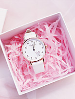 cheap -Kids Quartz Watches Quartz New Arrival Chronograph PU Leather Analog - White Black Blushing Pink