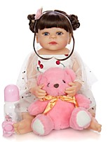 cheap -KEIUMI 22 inch Reborn Doll Baby & Toddler Toy Reborn Toddler Doll Baby Girl Gift Cute Washable Lovely Parent-Child Interaction Full Body Silicone 22D05-C304-H45-T14 with Clothes and Accessories for