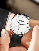 cheap -DOM Men's Sport Watch Quartz Sporty Army Water Resistant / Waterproof Genuine Leather Black Analog - Digital - White Black Blue / Calendar / date / day