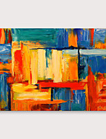 cheap -IARTS®Hand Painted block Oil Painting   with Stretched Frame For Home Decoration